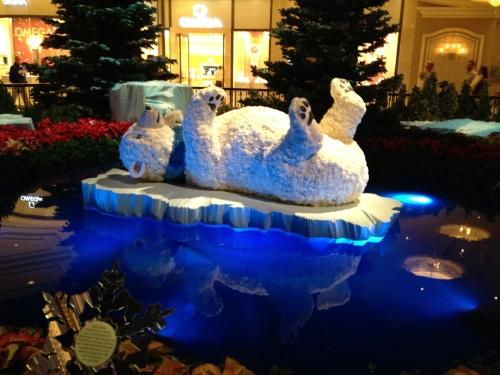 The Bellagio's floating polar bear!