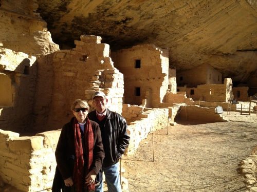 Sight-seeing at Mesa Verde, one of our favorite places to see 2012