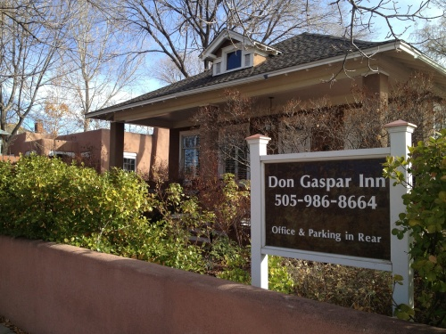 Situated in a residential area, the Don Gaspar Inn blends into this lovely setting.
