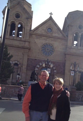 Someone on the street asked if we wanted our picture taken in front of the Cathedral Basilica.  How could we refuse?