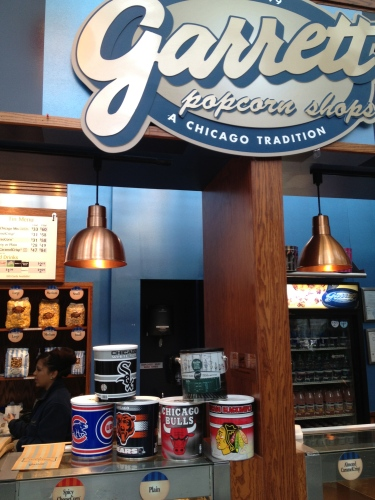 Chicago-themed tins ready to be filled with Garrett's popcorn