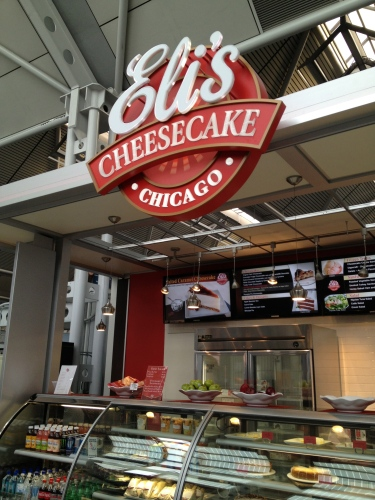 You can get a boxed-up, ready to fly home cheesecake from Eli's!