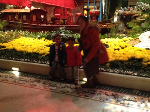 Taking pictures is just part of the fun at Bellagio's Conservatory