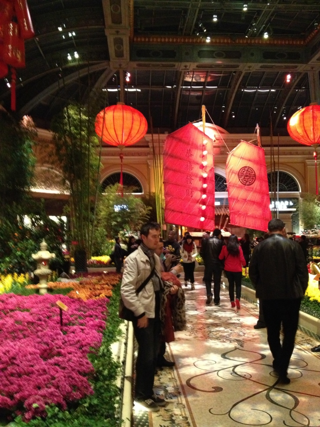 The central walkway of Bellagio's Conservatory decked out for Chinese New Year.