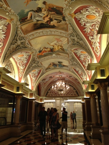 Ceilings in The Venetian.