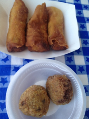Crawfish rolls and crawfish balls