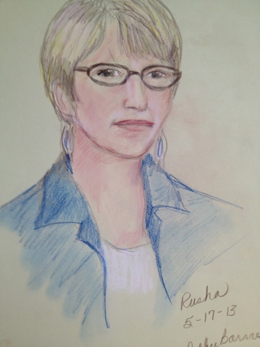 Portrait of the blogger by Debbie Barnes