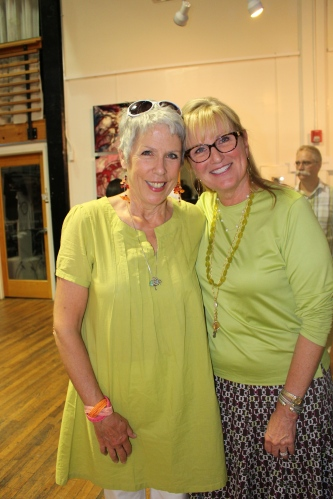 Jenny Freeman and Betsy Childs celebrate a successful event!