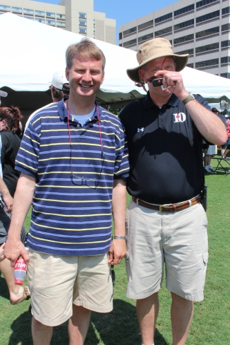 Mayor Tim Burchett and meteorologist Todd Howell of WBIR