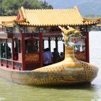 Riding a slow boat in China at Beijing's Summer Palace