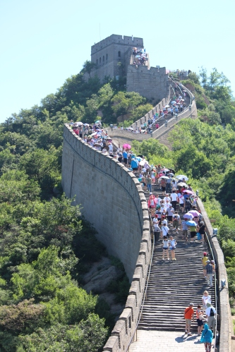 It was packed the day we climbed the Great Wall at Badaling!