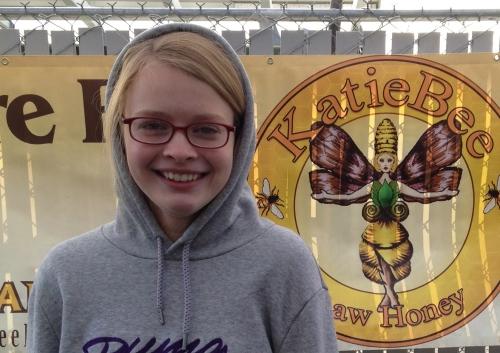 Katie Bee Raw Honey's cutest salesperson