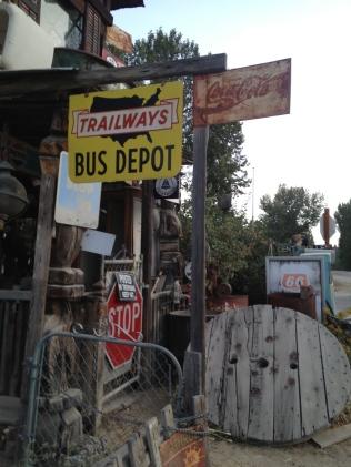 Bus Depot sign, Idaho City