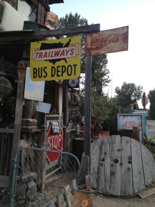 Bus Depot sign, Idaho City
