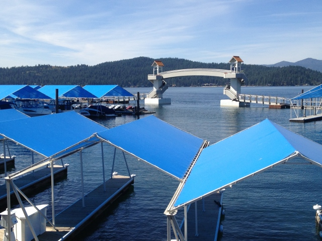 The marina at The Coeur d'Alene Resort