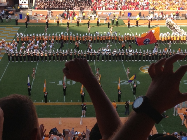 The Pride of the Southland forms the Power T