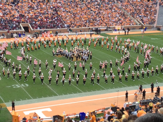 The Pride performs their famous Circle Drill.