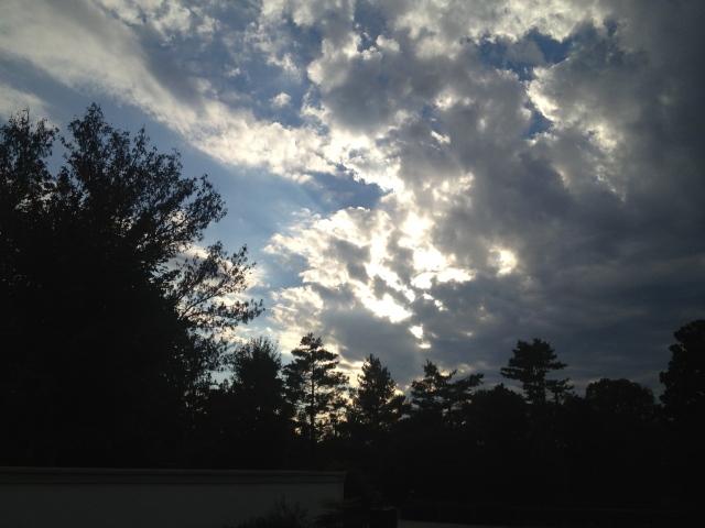 Evening sky Sequoyah Hills