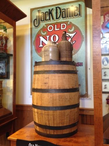 Old No. 7 display at Jack Daniel Distillery