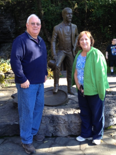 Jim and Cindy Mouch (my brother-in-law and sister) from Decatur, Alabama, pause for a picture with Jack!