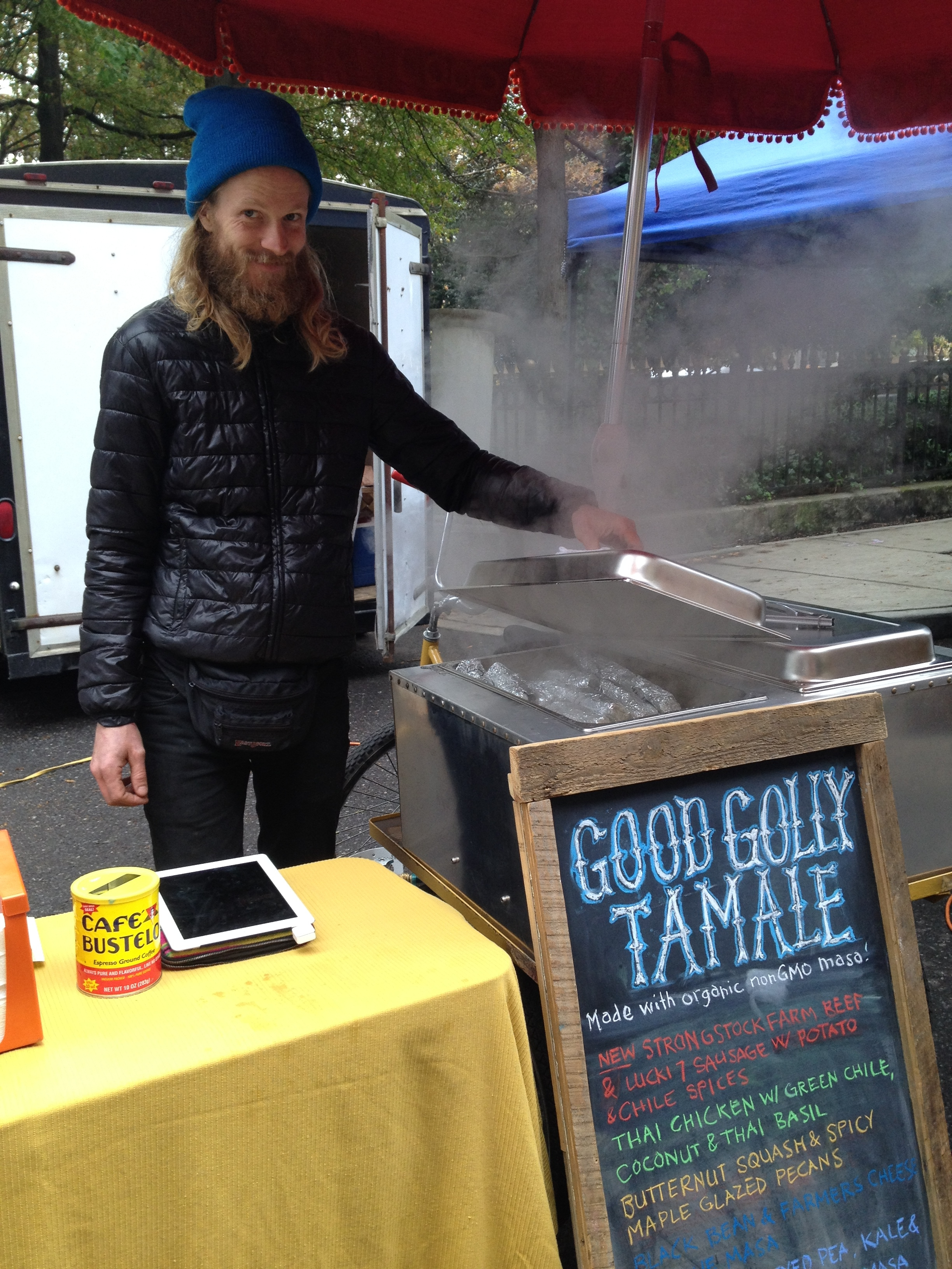 Food trucks on Union: It's Saturday morning!   Oh, the