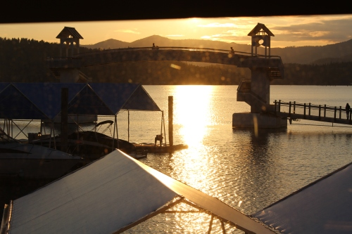 A sunset view from Dockside restaurant