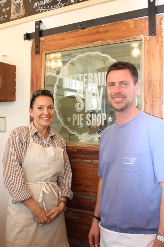Owners Meredith and Scott Layton of Buttermilk Sky Pie Shop