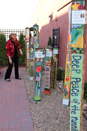 Betty Sue Sparks takes a closer look at colorful garden posts that say a lot!