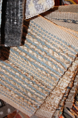 Natural fiber rugs in soft colors can be custom ordered to complement the look of Roost's natural rooms.