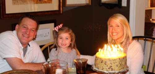 Wishing our daughter-in-law a Happy Birthday with a German Chocolate Cake from Ham 'n Goodys!