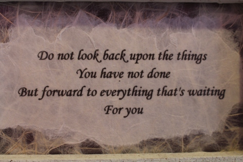 Framed quote displayed at the Laurel Oak Inn