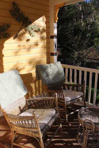 Side porch for Lilac Room guests
