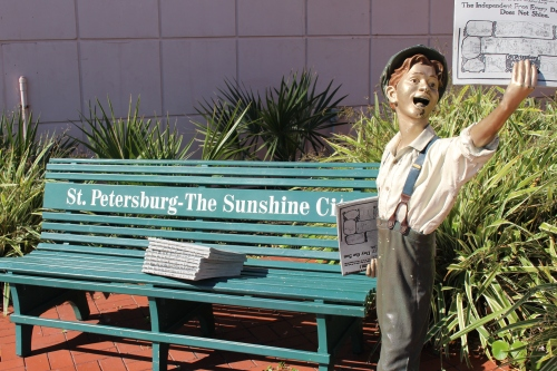 Newsboy, St. Petersburg