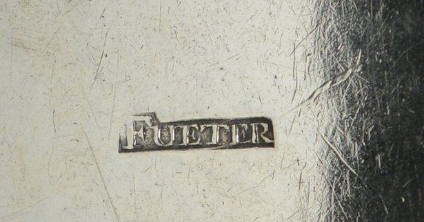 Mark of silversmith Lewis Fueter