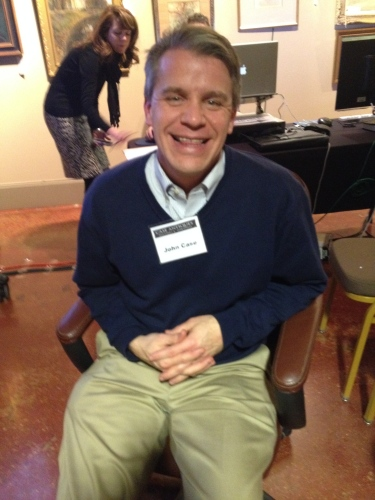 John Case pauses for a moment at a very busy preview of the Case Antiques Auction on January 24th
