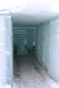 Icy entrance!