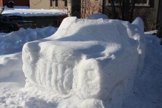 Ice car you can sit in!