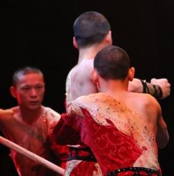 Three Shaolin warriors: Ringling Bros. Circus