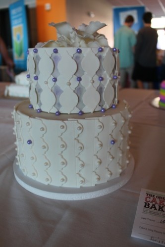 Chocolate on Amaretto Wedding Cake by Melissa Pendleton