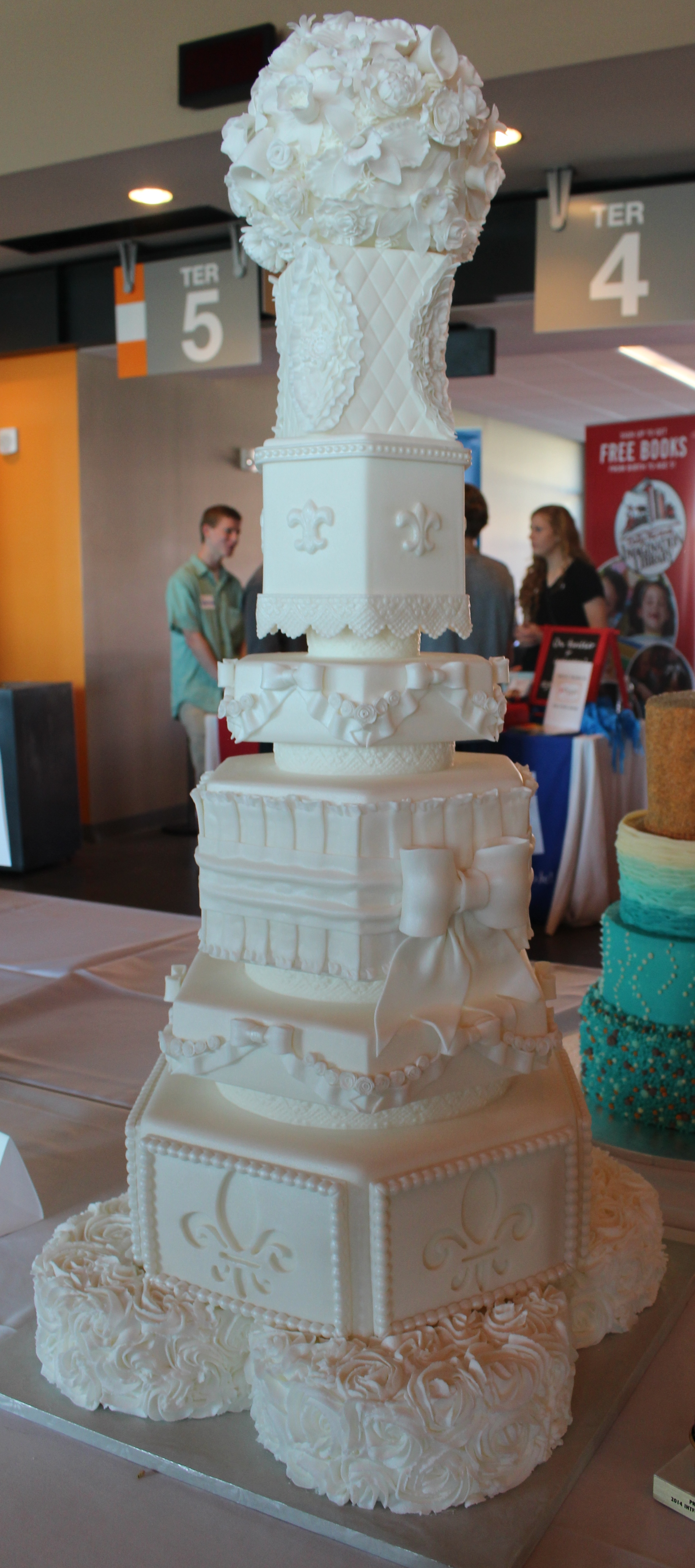 Elegant, tall wedding cake | Oh, the Places We See