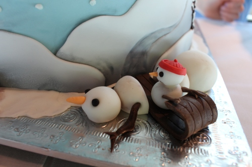 Close-up of melting snowmen on Tammy Jo Geckler's cake, What Will You Do With Your Imagination?