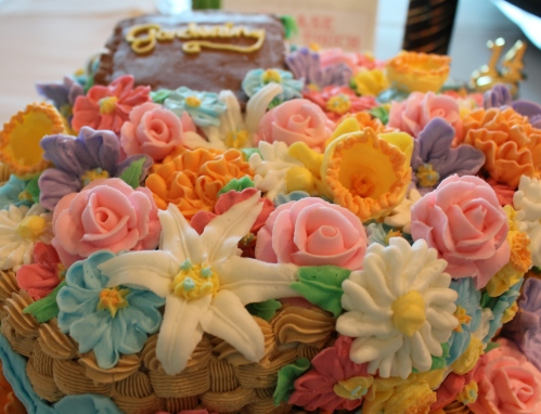 Robin Middlebrook's floral creation came in 1st in the Junior Division of All-Occasion Buttercream