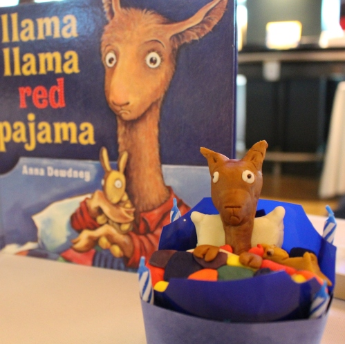 Donovan Scott created an almost look-alike llama to win 2nd Place, Junior Division for Cupcakes