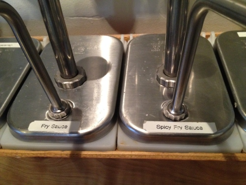 Sauce bar -- Boise Fry Company
