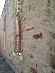 Detail of stonework: Old Idaho Penitentiary