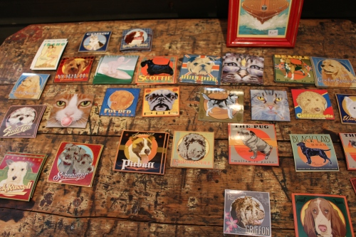 Collection of magnets, Ward Hooper Gallery