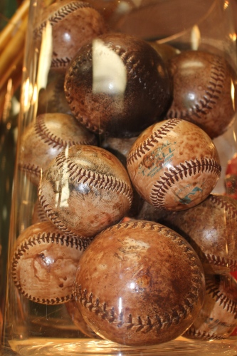 Collection of baseballs, Ward Hooper Gallery