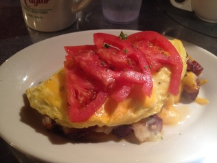 The big Cajun Omelette at Goldy's