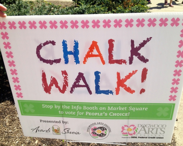 Chalk Walk 2014 sign