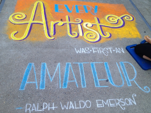 Chalk Walk: Emerson quote